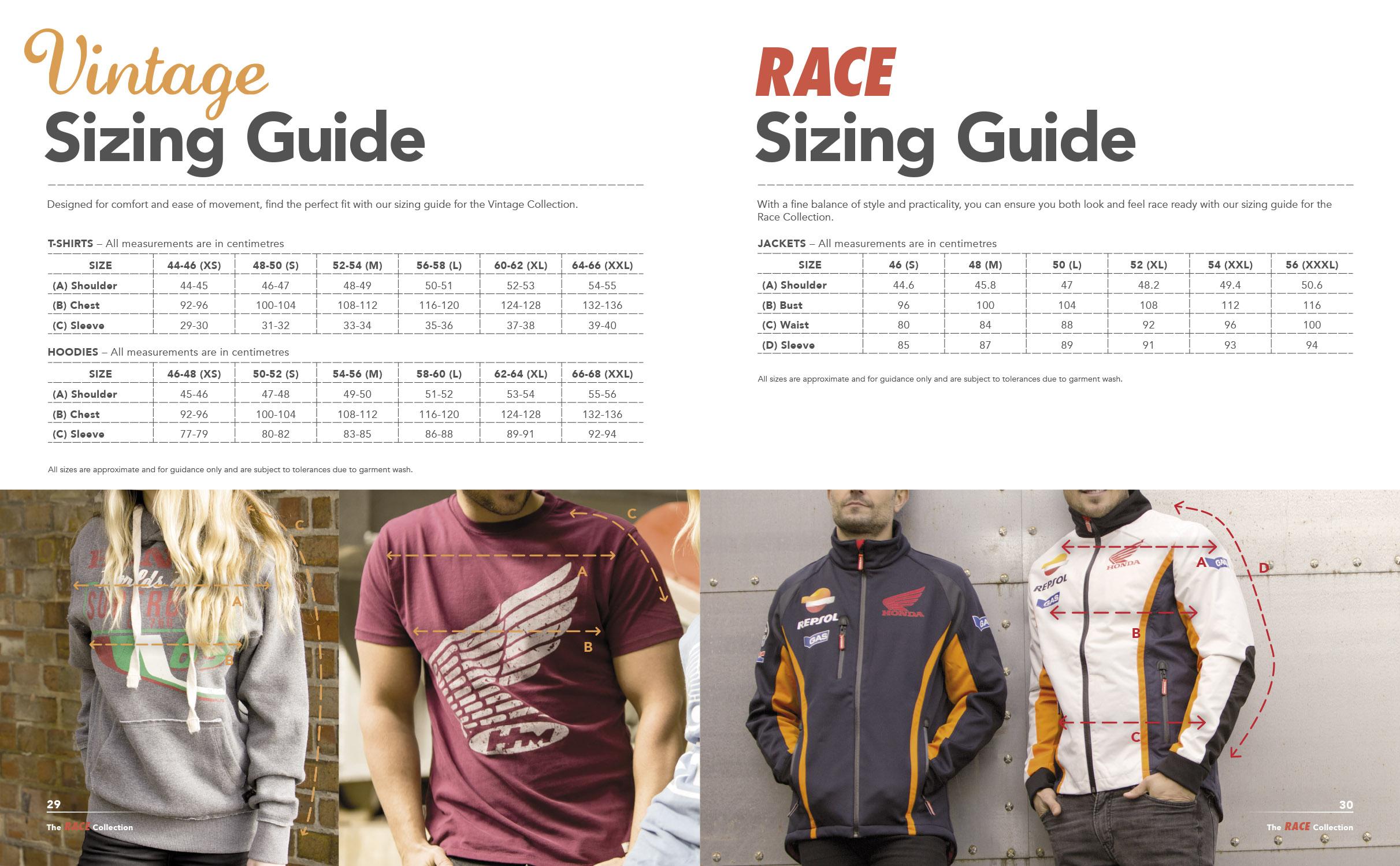 Honda Vintage Clothing Brochure 2016